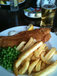 Battered Cod and chips at The Station, Port Erin, Isle of Man